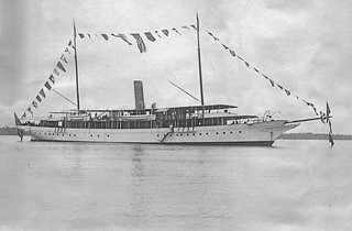"The Nigerian Government  Steam Yacht ""Ivy"" in 1904"