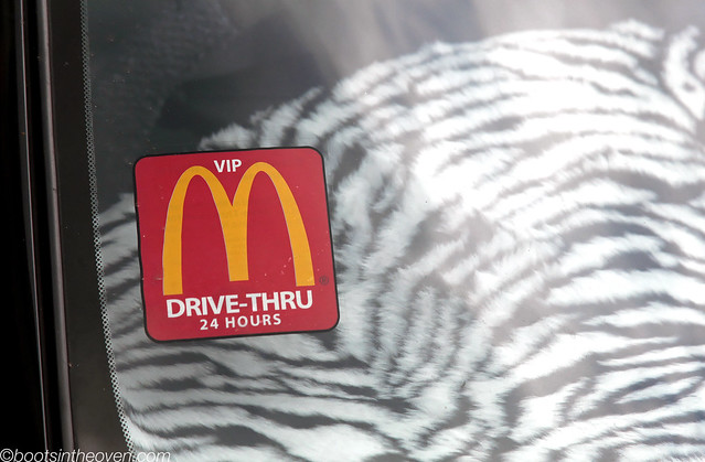 McD's drive through sticker?