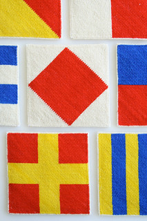 Laura's Loop: Nautical Needlepoint Coasters