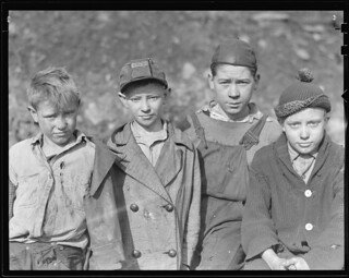 Scott's Run, West Virginia. Children of employed miners at Miller Hill, March 1937