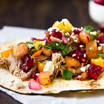 Pulled Pork Tacos with Cherry Salsa