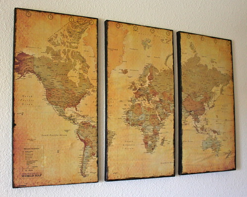 Finished Map Canvas & Canvas Map Wall Art - Just Two Crafty SistersJust Two Crafty Sisters