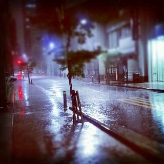 hard rain in tokyo