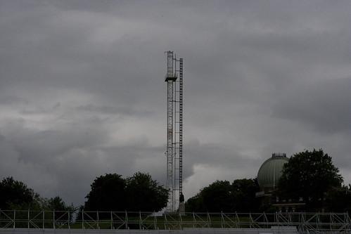 Greenwich Park camera cable pylon