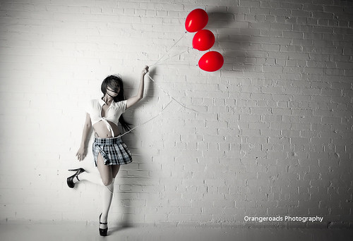 Red Balloon by Toni Wallachy