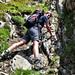 Lobspitze 2012 07 10 - steile Rinne mit losem Schotter