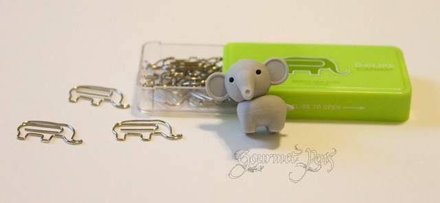 Elephant Eraser + Paperclips