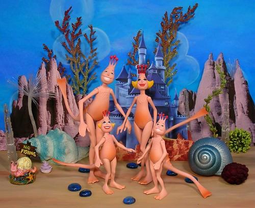 Sea Monkey Family Action Figures