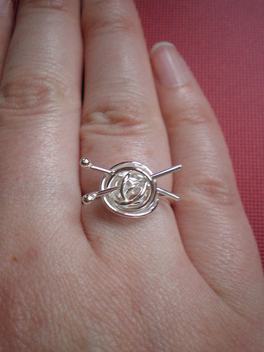 Silver Knitting Ring