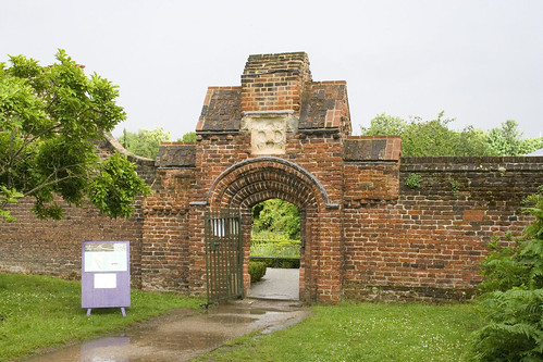 Tudor gate in the walled garden