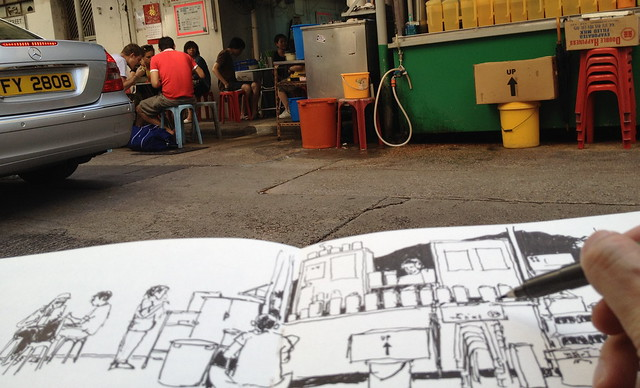 36th World Wide SketchCrawl: Ormsby Street Street Stall 2 , Hong Kong  大坑四處畫