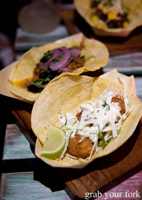 baja fish taco at chica bonita manly