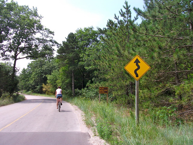 Biking near Lake Huron, Ontario