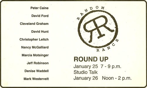 Lindveit, Eric_Random Ranch_Flyer_Round Up, Studio Talk
