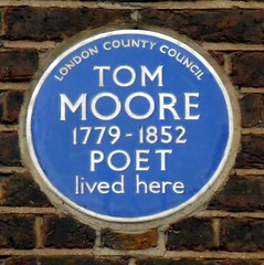 Photo of Thomas Moore blue plaque