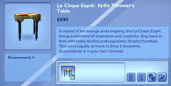 Le Cirque Esprit- Knife Thrower's Table