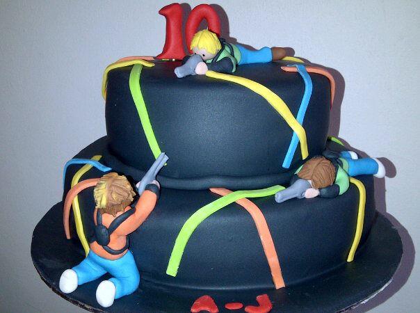 laser quest birthday cakes