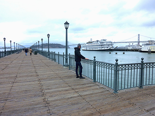 biking along the waterfront on the way to the golden gate bridge leads you past a number of jetties that you can take a walk on and have a good look at the habour