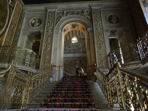 The Main Entrance Hall at Chatsworth