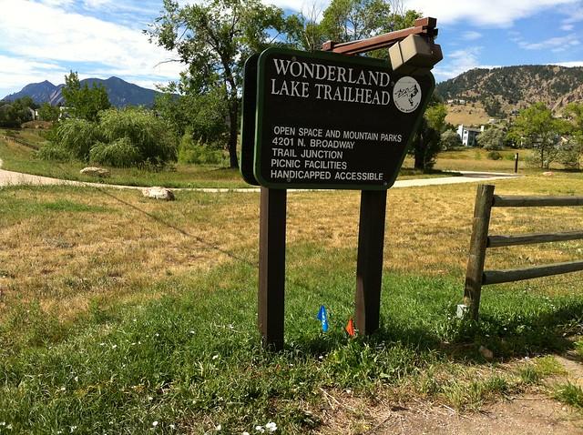 Trailhead - Biking at Wonderland Lake, Boulder, CO