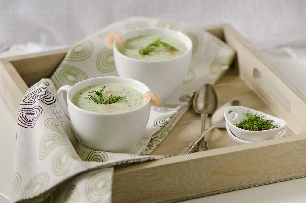Cold cucumber soup_