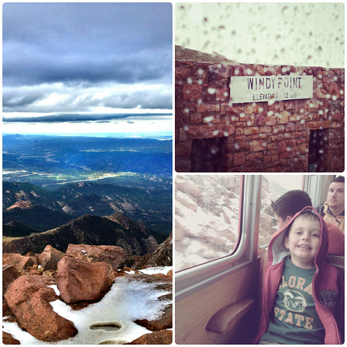 The view from the Pikes Peak Cog Railway