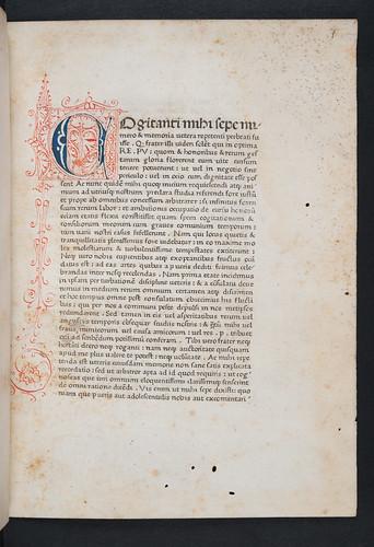 Pen work initial in Cicero, Marcus Tullius: De oratore