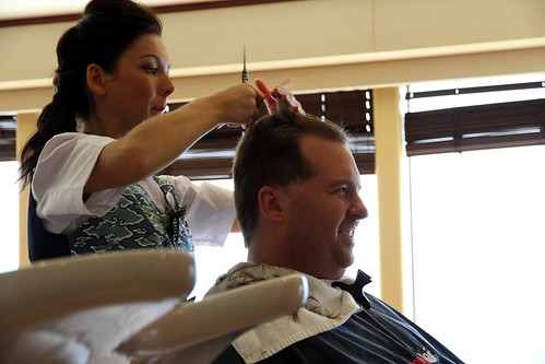 Norwegian Pearl - Mike Being Styled at Sea