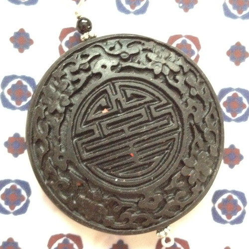 black wood oriental pendant