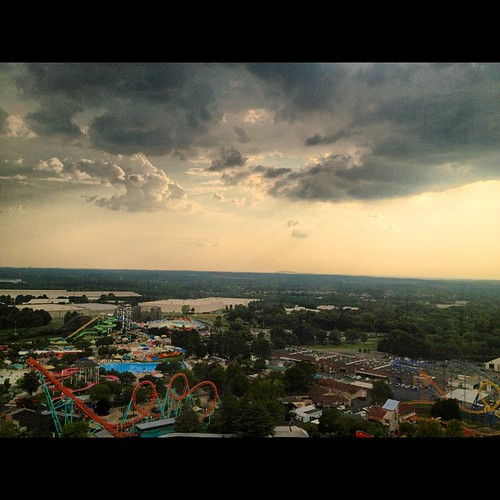 iphoneography square photooftheday sky picoftheday pictures skies photos river rollercoasters rides amusementpark carowinds northcarolina southcarolina