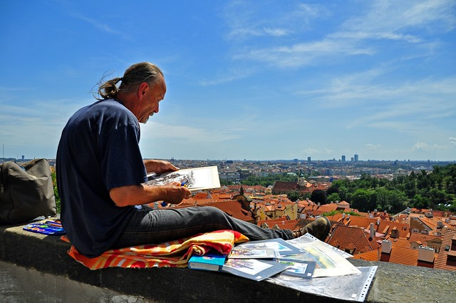 Prague Artist at Work
