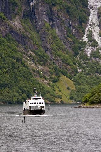 195 Ferry desde el ferry Gudvangen-Kaupanger