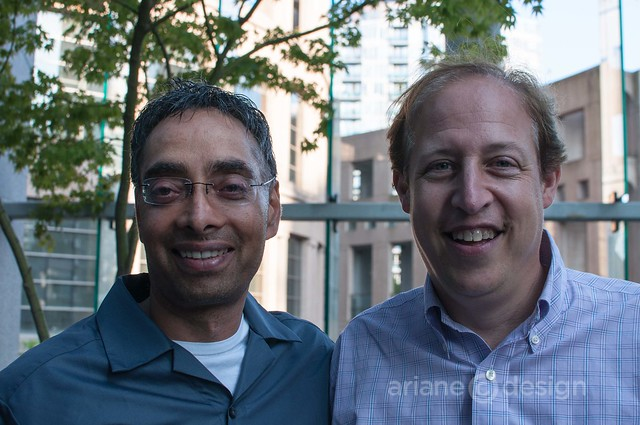 Preet Marwaha, Organic Lives founder with Richard Wolak, Vancouver Foodster