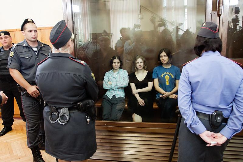 Pussy Riot в суде. Приговор два года.