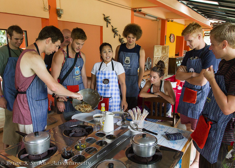 Smart Cook Thai Cookery School classroom at Baan Pasao