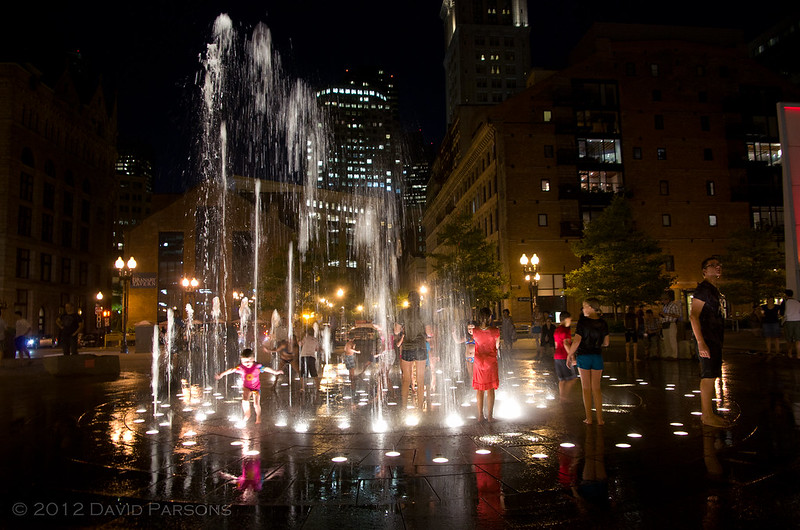Rose Kennedy Greenway - Rings Fountain