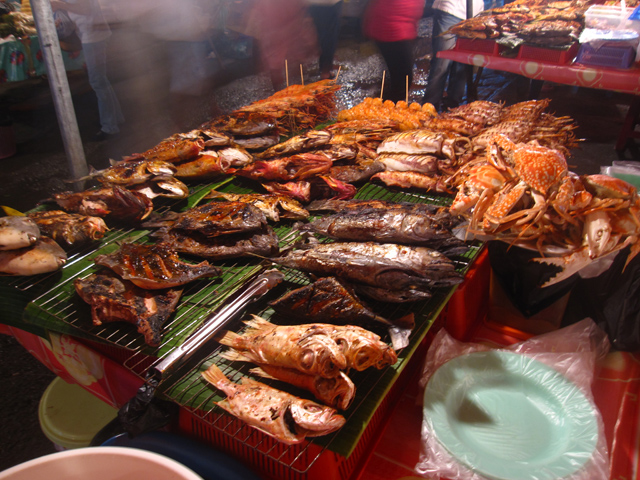 A beautiful mess of grilled seafood