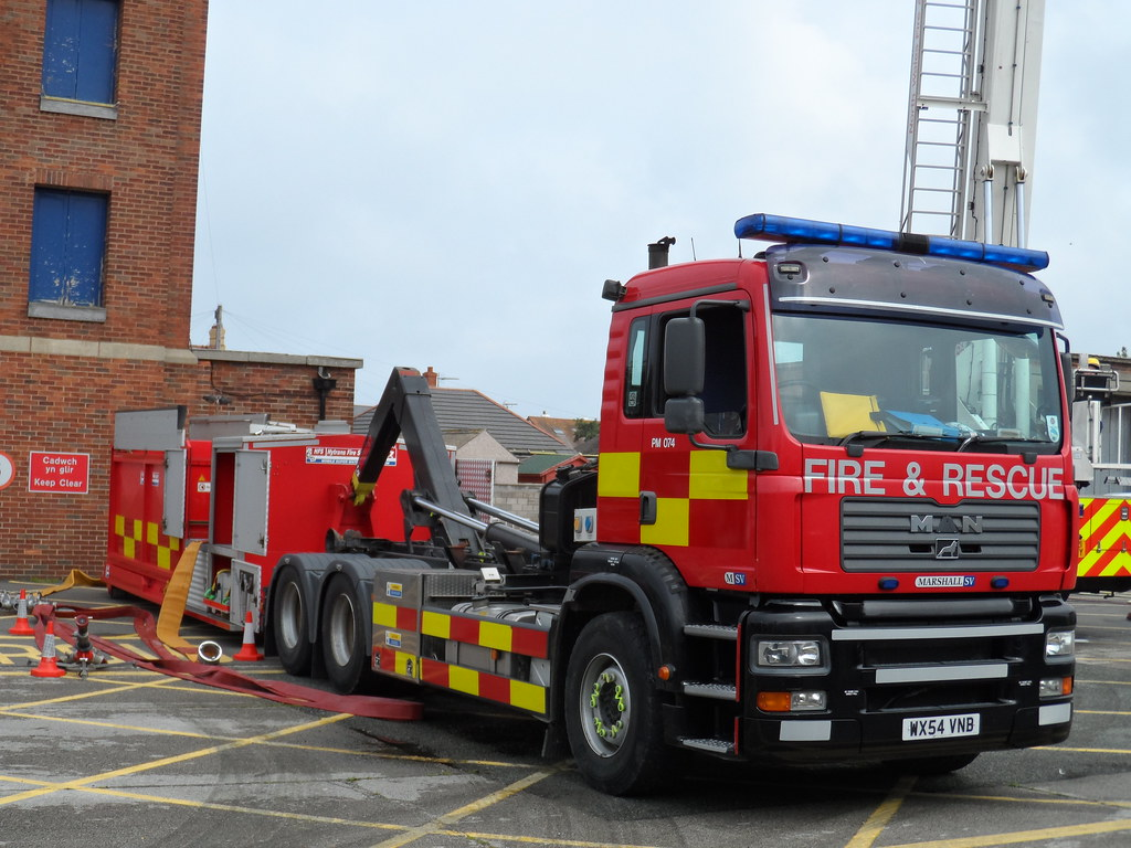 North Wales Fire and Rescue MAN/MarshallSV PM 074 WX54 VNB