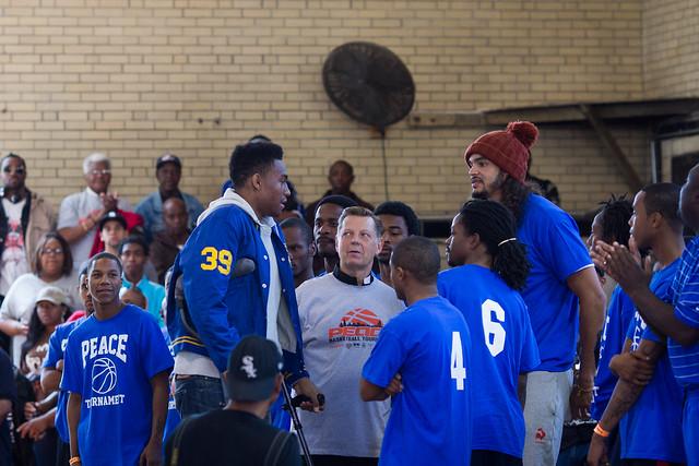 Simeon High School star, Jabari Parker, showed up to lend ... Jabari Parker Simeon