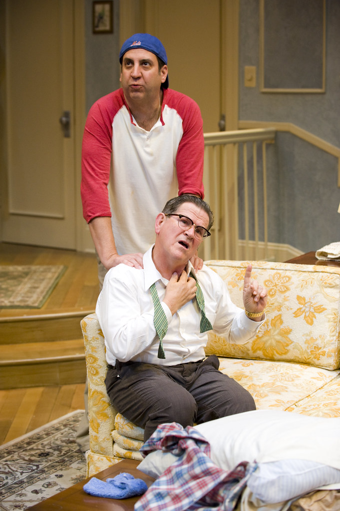 Marc Grapey and Tim Kazurinksy as Oscar and Felix in THE ODD COUPLE
