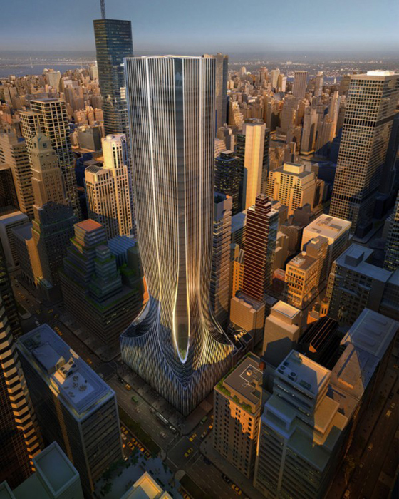 Finalist Design for 425 Park Avenue by Zaha Hadid Architects. Image via Architizer