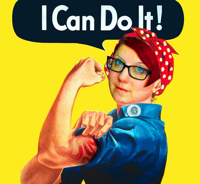 Me, as Rosie the Riveter