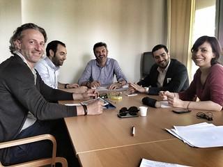 Con i 4 segretari PD della Romagna