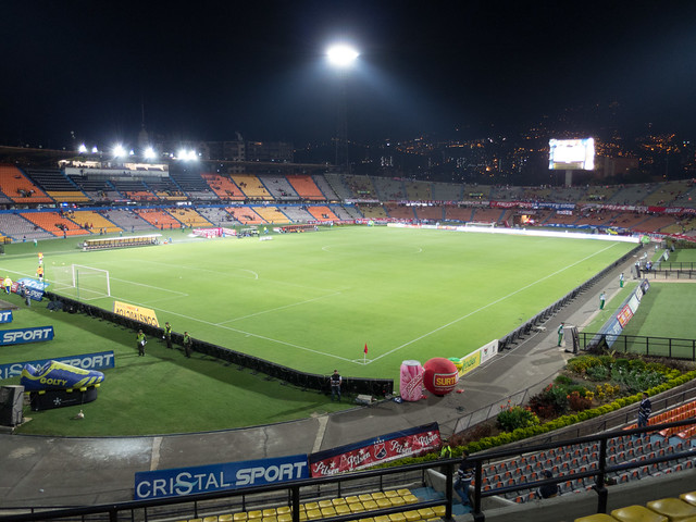 The soccer pitch at Estadio