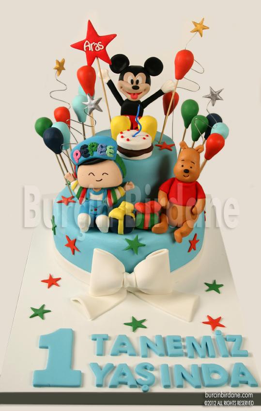 Mickey Pepee Winnie 1 yas