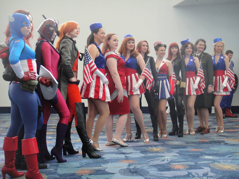 WonderCon 2012 - female Marvel cosplayers