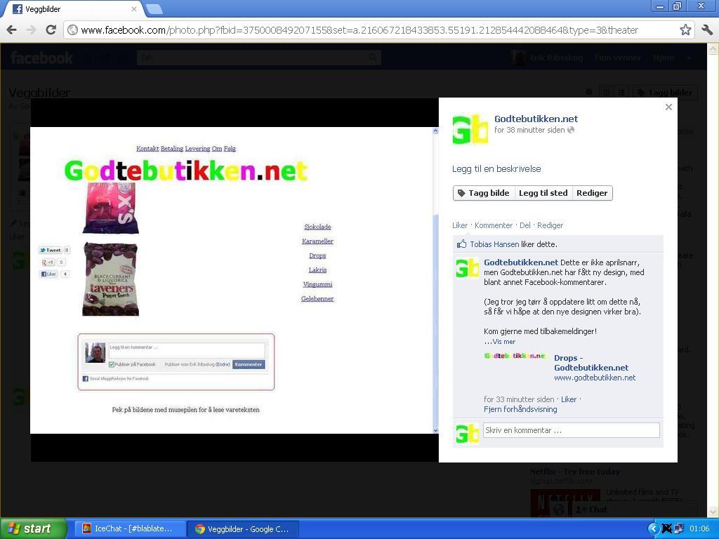 ny design godtebutikken.net