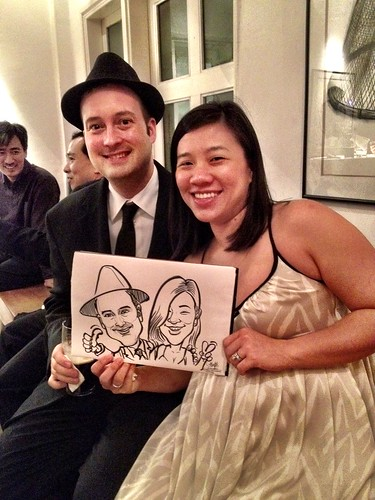 Caricature live sketching for Diageo Singapore Pte Ltd - 15