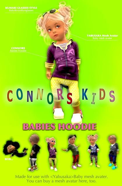 CONNORS KIDS BABIES HOODIE