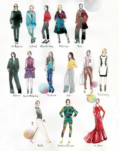 My favorite looks from pre-fall 2012 11X14 print
